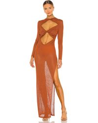 Bronx and Banco Платье Daphne В Цвете Copper - Оранжевый
