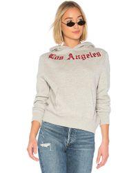 Kendall + Kylie Embroidered Oversize Fleece - Grau