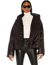 Norma Kamali Hooded Sleeping Bag Coat - Black