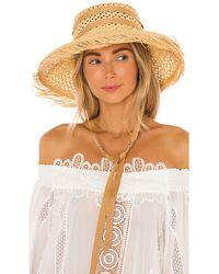 Sensi Studio Соломенная Шляпа Calado В Цвете Beige Straw & Sable Band - Естественный