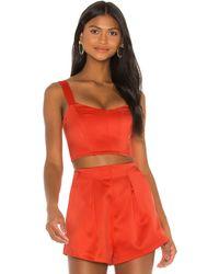 Nbd Lian Bustier Top - Orange
