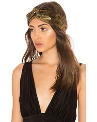 Jennifer Behr - Satin Turban Headwrap In Metallic Gold. - Lyst