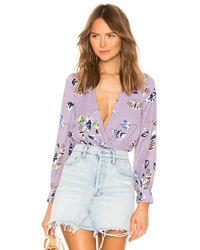 superdown Боди Aliza В Цвете Lavender Floral - Пурпурный