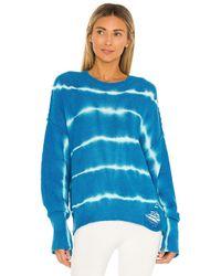 NSF Annabelle Boyfriend Slouchy Sweater - Blue