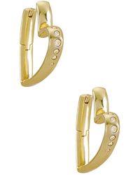 Kendra Scott Ansley Small Hoop Earring - Metallic