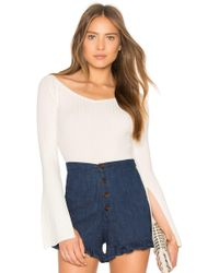 BCBGMAXAZRIA - Zoee Off Shoulder Sweater In Gardenia - Lyst