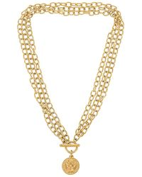 Ellie Vail Viviane Toggle Multi Chain Coin Necklace - Metallic