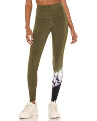 Electric and Rose Sunset Legging - Green