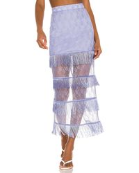 Song of Style Peggy Midi Skirt - Blue