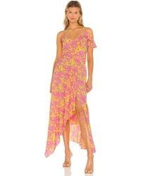Diane von Furstenberg Макси Платье Irene В Цвете Palm Small Sunshine Yellow - Многоцветный