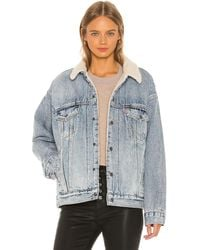 Levi's Dad Sherpa Trucker. - Size L (also - Blue