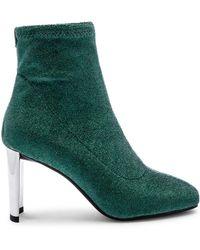 Lola Cruz - Metallic Sock Bootie In Green - Lyst