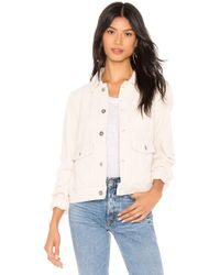 AG Jeans - Evonne Corduroy Jacket In Ivory - Lyst