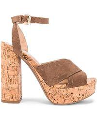 superdown Обувь На Каблуке Sarah В Цвете Цвет Загара - Taupe. Размер 8.5 (также В 9). - Коричневый