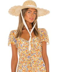 Lack of Color Шляпа Scalloped В Цвете Натуральный - Многоцветный