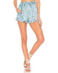 For Love & Lemons - Spring Bloom Ruffle Shorts - Lyst