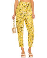 AMUR Брюки Lisette В Цвете Marigold Garden - Желтый
