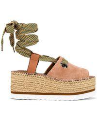 See By Chloé Glyn Wrap Platform Sandal - Brown
