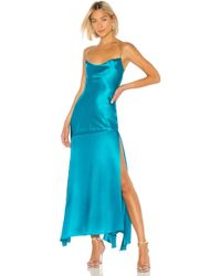 Michael Lo Sordo Caroline Bias Slip Dress - Blau