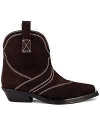Ganni Western ブーツ - ブラウン