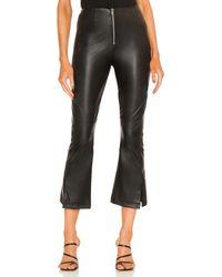 LNA Faux Leather Zip Pant - Black