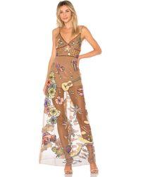 For Love & Lemons - Cuba Embroidery Sequin Dress - Lyst