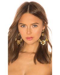 Jennifer Behr Freya Hoop Earrings - Mettallic