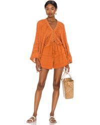 Free People Paloma Short Set - Orange