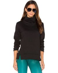 Alo Yoga - Haze Long Sleeve Sweatshirt In Black - Lyst