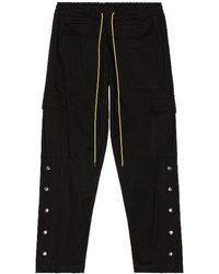 Rhude Long Snap Cargo Pant - Black