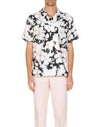 DOUBLE RAINBOUU Рубашка Hawaiian В Цвете Cloud Control White - Black & White. Размер L (также В Xs). - Белый