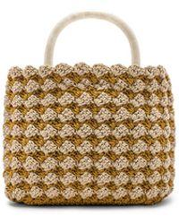 Loeffler Randall - Audrey Crochet Tote In Yellow. - Lyst