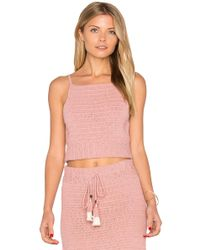 She Made Me Jannah Crochet Cami Top - Pink