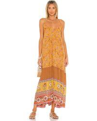 Spell Макси Платье Portobello Road В Цвете Mustard Seed - Желтый