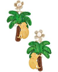Mercedes Salazar Palm イヤリング - グリーン