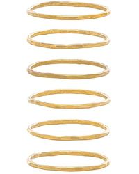 Mimi & Lu - Stackable 6 Ring Set - Lyst