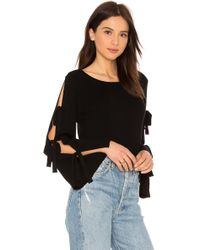 MILLY | Tied Together Flare Sleeve Pullover | Lyst