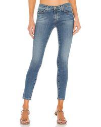 AG Jeans LEGGING Ankle スキニーデニム - ブルー