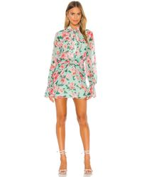 Lovers + Friends Amy Mini Dress - Grün