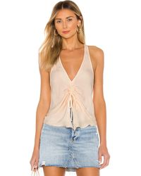 Free People In A Cinch Cami In Cream - Cream. Size M (also In S, Xs). - Natural