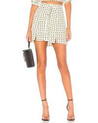 For Love & Lemons - Sweetheart Mini Skirt In Cream - Lyst