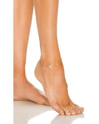ADINAS JEWELS Pave Butterfly Initial Anklet - Metallic