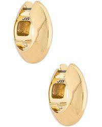 Jenny Bird Wide Hinged Hoops Earrings - Metallic