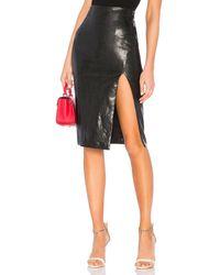 superdown Jezabel Faux Leather Midi Skirt - Schwarz