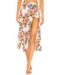 Tori Praver Swimwear Kayla Hollywood Floral Cover Up Skirt - Mehrfarbig