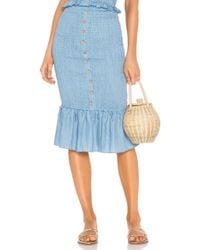 Suboo Last Night Shirred Skirt - Blue