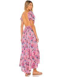 Tiare Hawaii Макси Платье New Moon В Цвете Secret Garden Pink - Розовый
