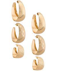 8 Other Reasons Серьги-кольца Jordy В Цвете Золотой - Металлик