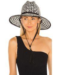 Lele Sadoughi Шляпа Straw Checkered В Цвете Black & White - Черный