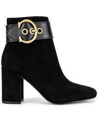 COACH Dara C Buckle Bootie - Black